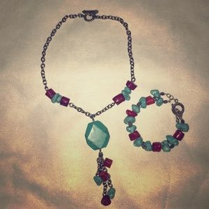 Jewelry - Vintage Turquoise and Coral Necklace